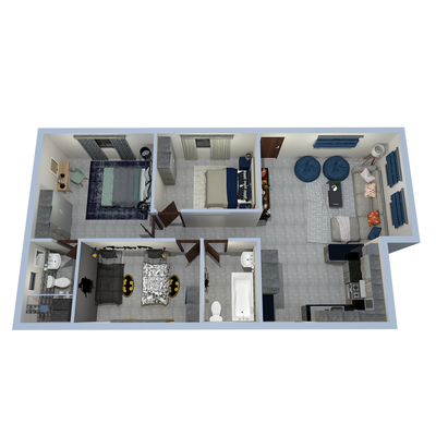 90sqm 3-Bed Unit