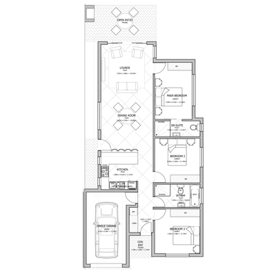 130sqm Unit (Single Garage)