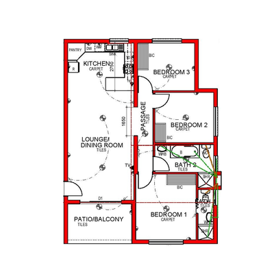 3 Bed North Entry