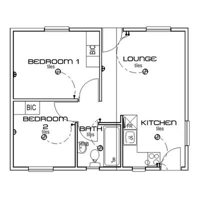 Estate home 2 bed 1 bath