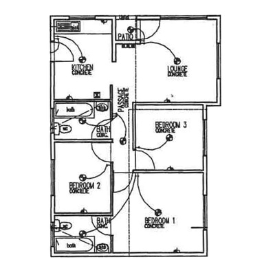 Plan 70 - 3 Bedroom