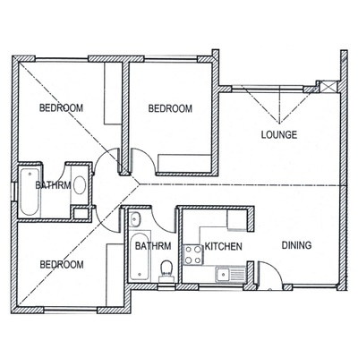 Plan 3Bed 2Bath
