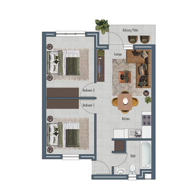Apartment 54sqm