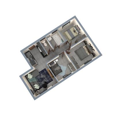55sqm Unit 3-Bed