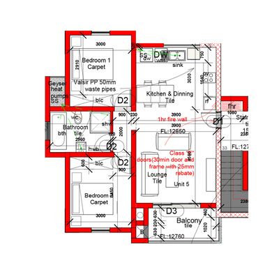 Sectional title 2 Bedroom unit