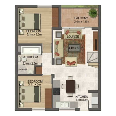 3 Bed 2 Bath with loft