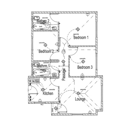 62sqm Unit - Gable roof - no garage