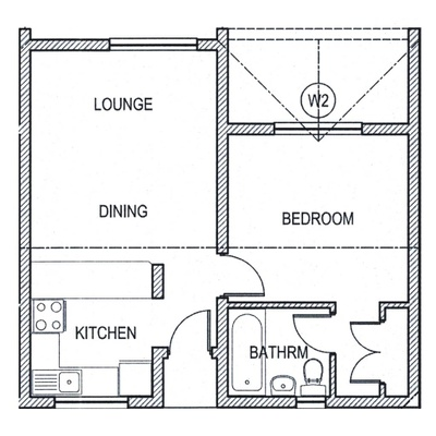 Plan 1Bed 1Bath