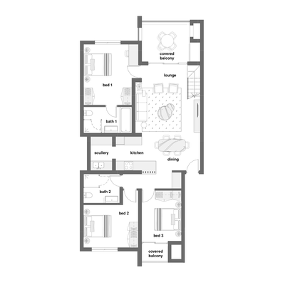 3 Bed with optional loft