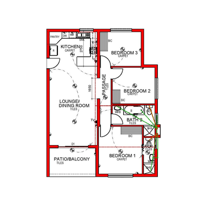 3 Bed South Entry