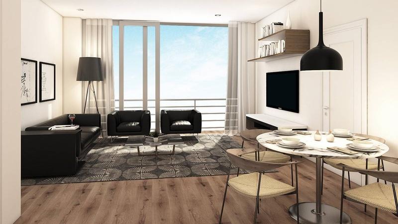 Interior / Unit E Dining Living View