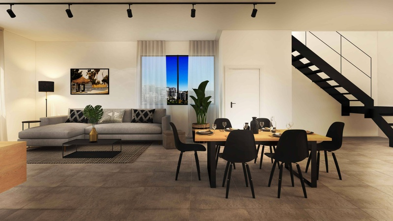 Black Brick Penthouse Living