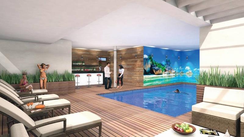 Interior /  Indoor Heated Pool & Terrace