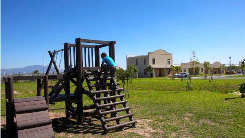 Jungle gyms scattered around Bardale Village