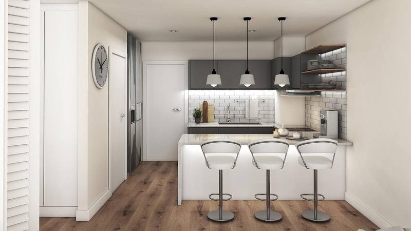 Interior / Unit A Kitchen View