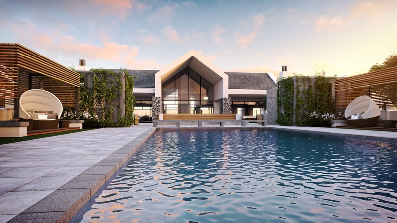 Sitari Clubhouse and pool