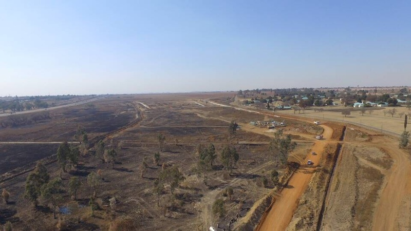 Aerial site view