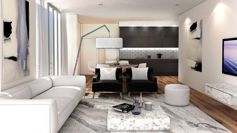 Interior / Unit H Dining Living View