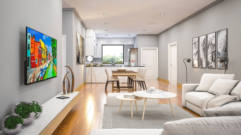 Alternative living space finishes