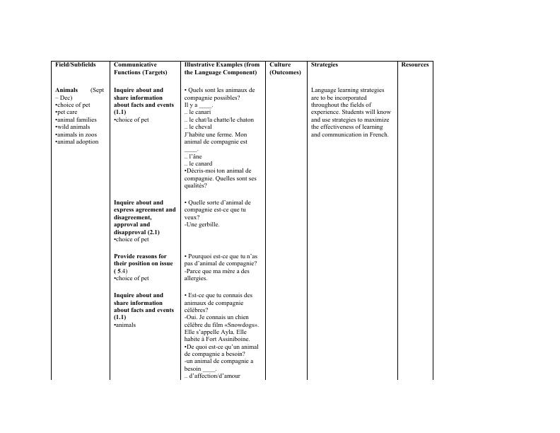 Grade 8 Long Range Plan