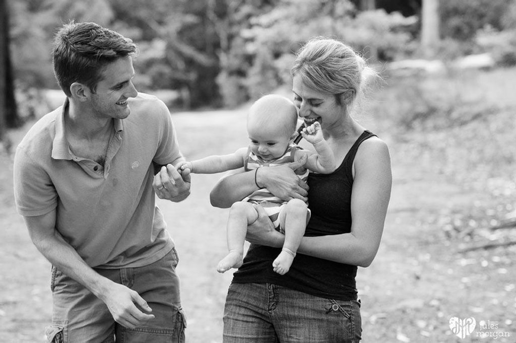 Eric, Carrie and Baby Luca