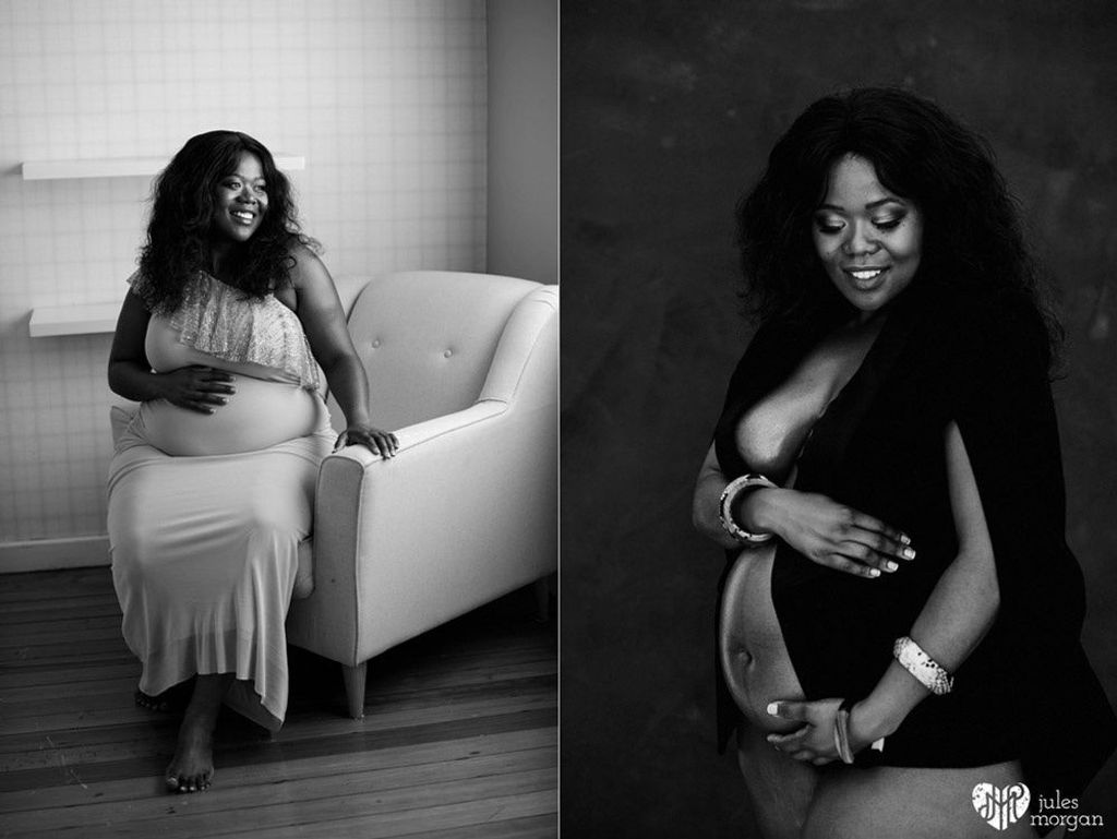 Nosiphiwo Glam Pregnancy Shoot // Home and Studio