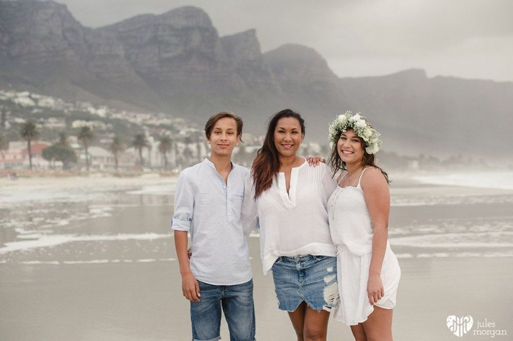 Shireen's family in Cape Town