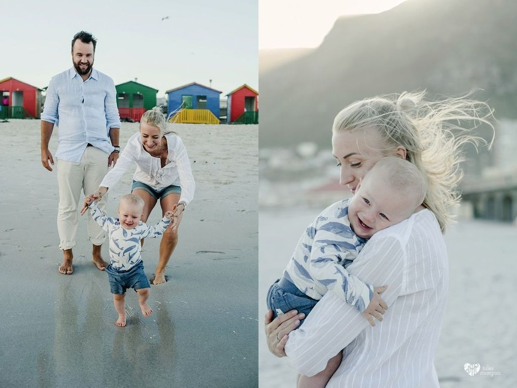Liina and her boys // Muizenberg