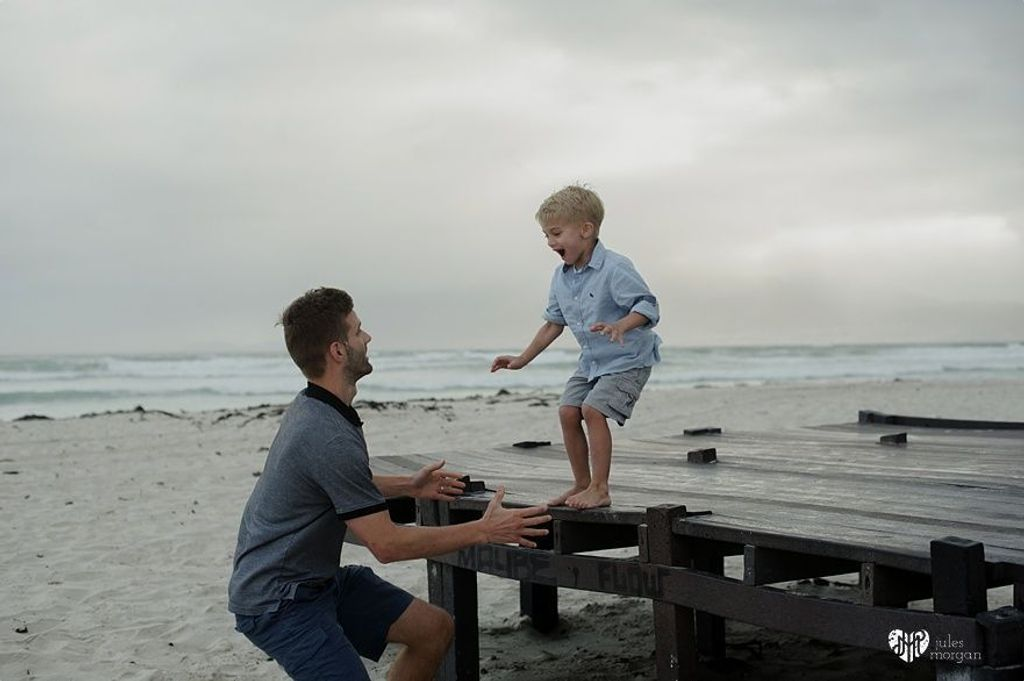 Eric, Carrie and Luca // Muizenberg Beach