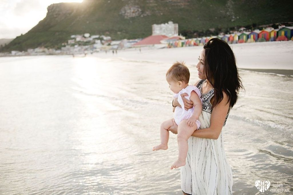 Phuong and her family in Cape Town