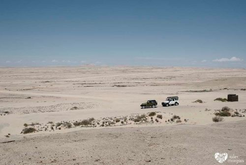 On the way to a  in Namibia