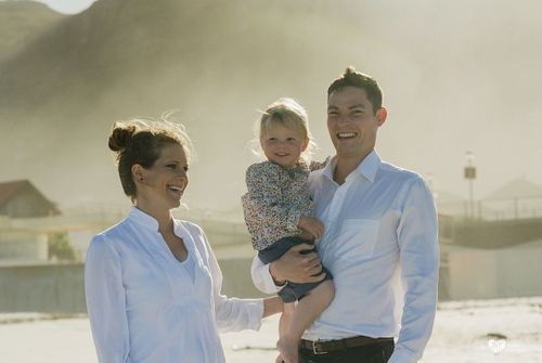 Andrea, Warwick, Annabelle (and bump) // Muizenberg Beach
