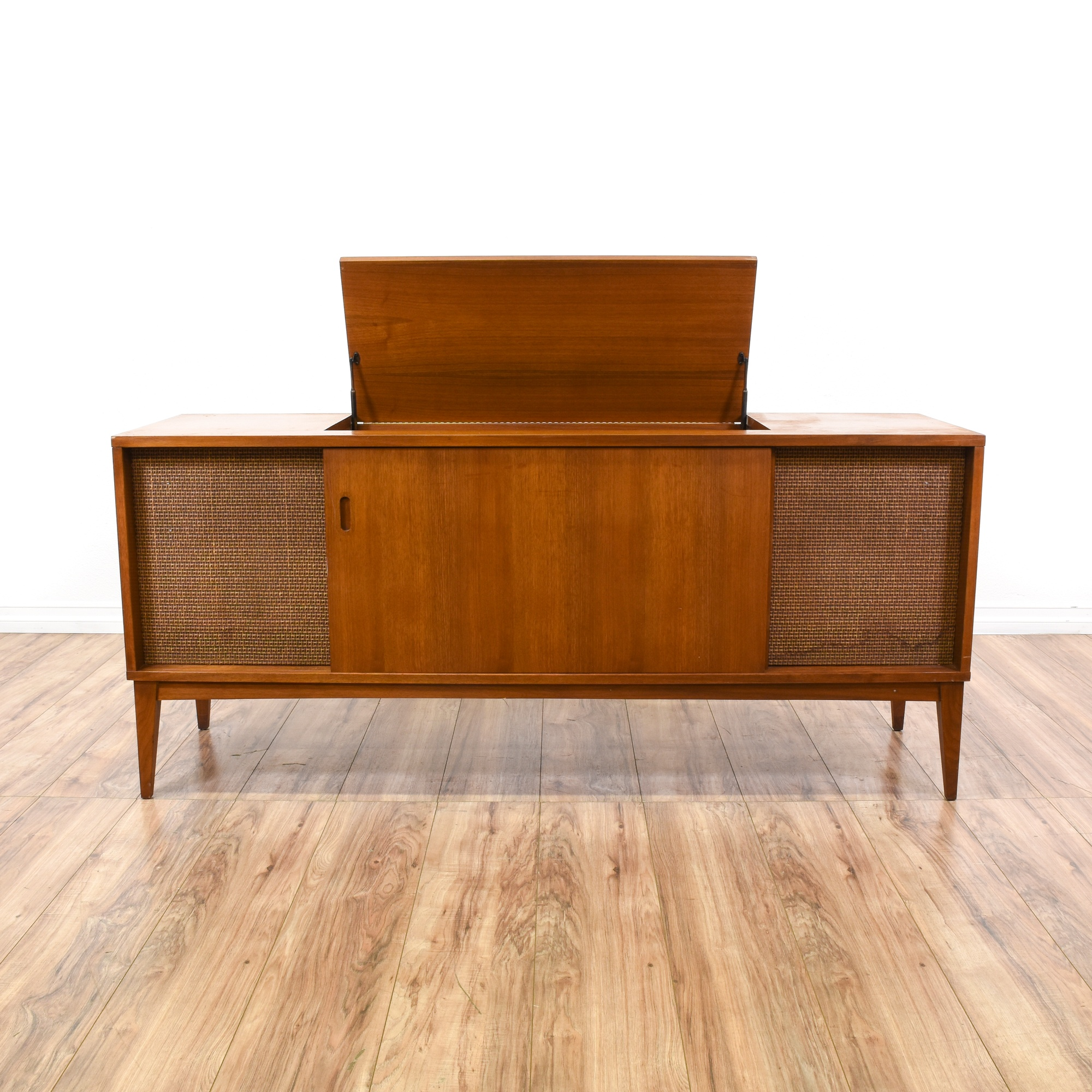 Clairtone mid century modern record console loveseat for Mid century furniture san francisco