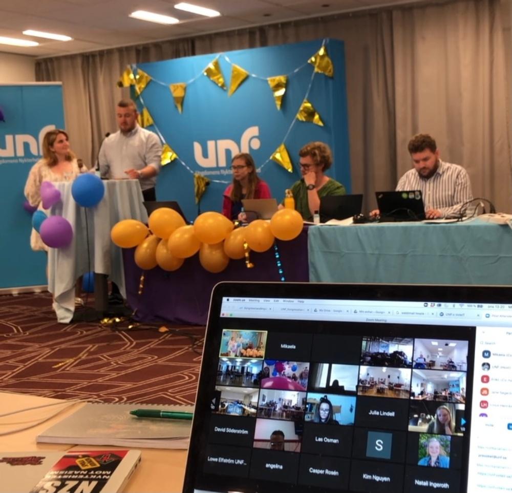 UNF:s 29e kongress, denna gång digitalt.