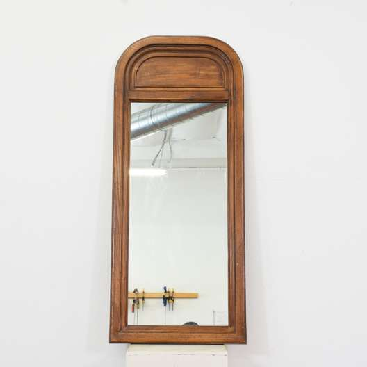 Curved Top Wood Framed Mirror