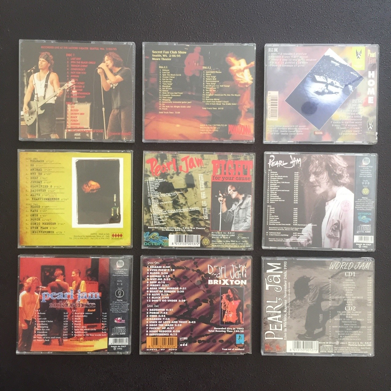 Pearl Jam Bootlegs (14 Items) | Collectionzz