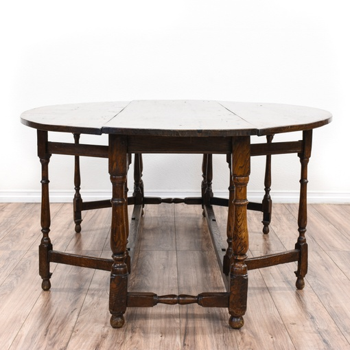 Antique Charles Ii Drop Leaf Dining Table 2 Loveseat