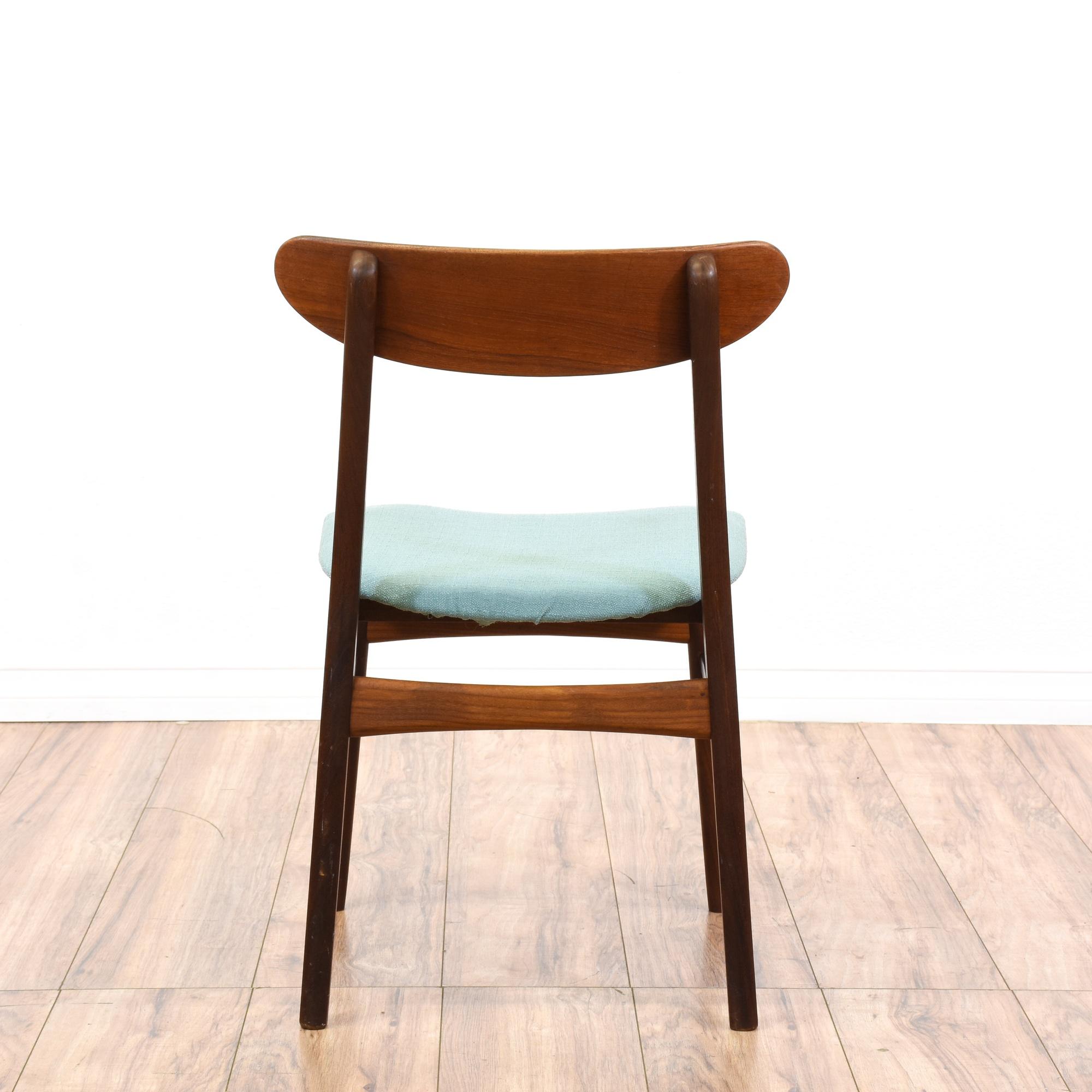 mid century modern blue side chair loveseat vintage furniture san diego los angeles. Black Bedroom Furniture Sets. Home Design Ideas