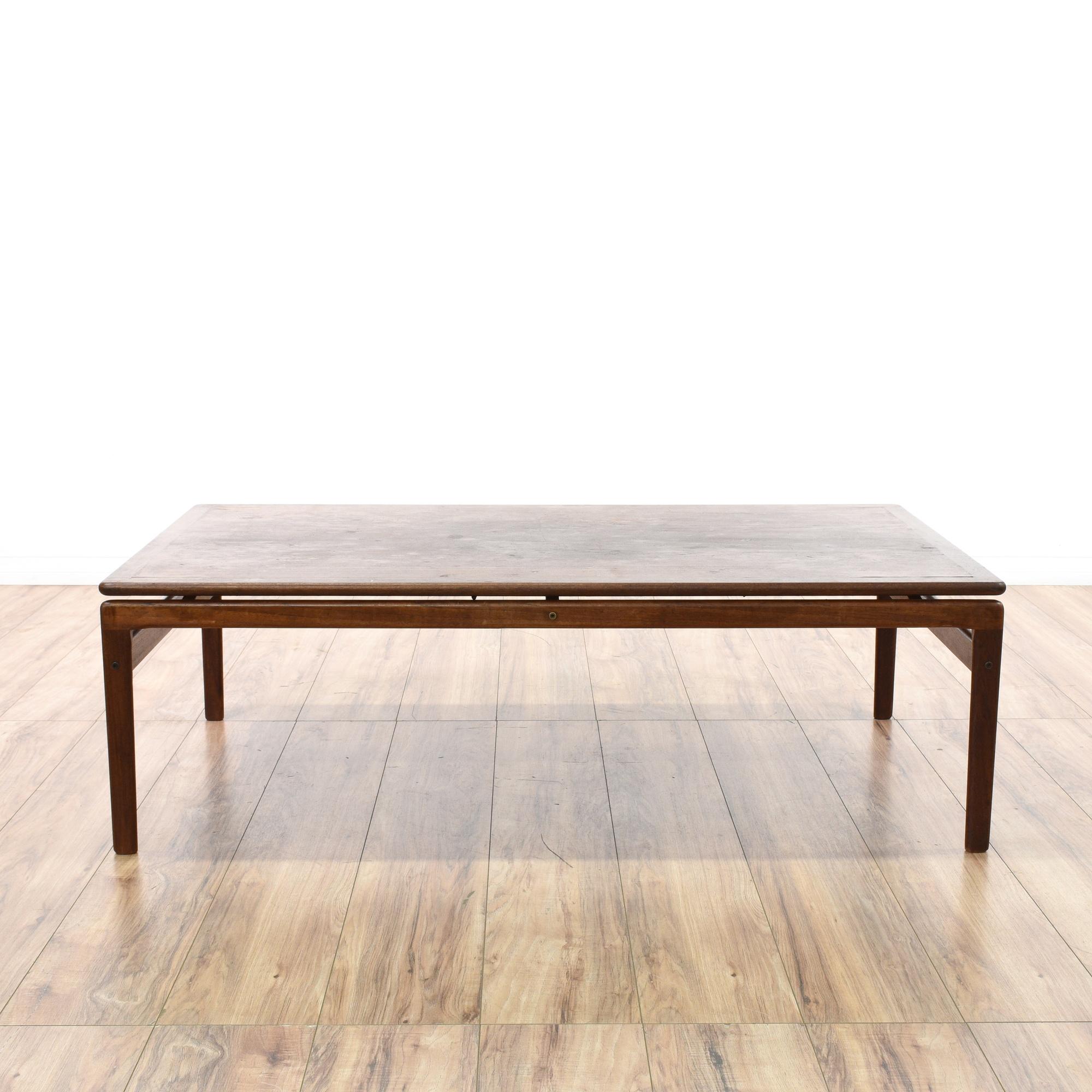 Large Mid Century Modern Walnut Coffee Table Loveseat Vintage Furniture San Diego Los Angeles