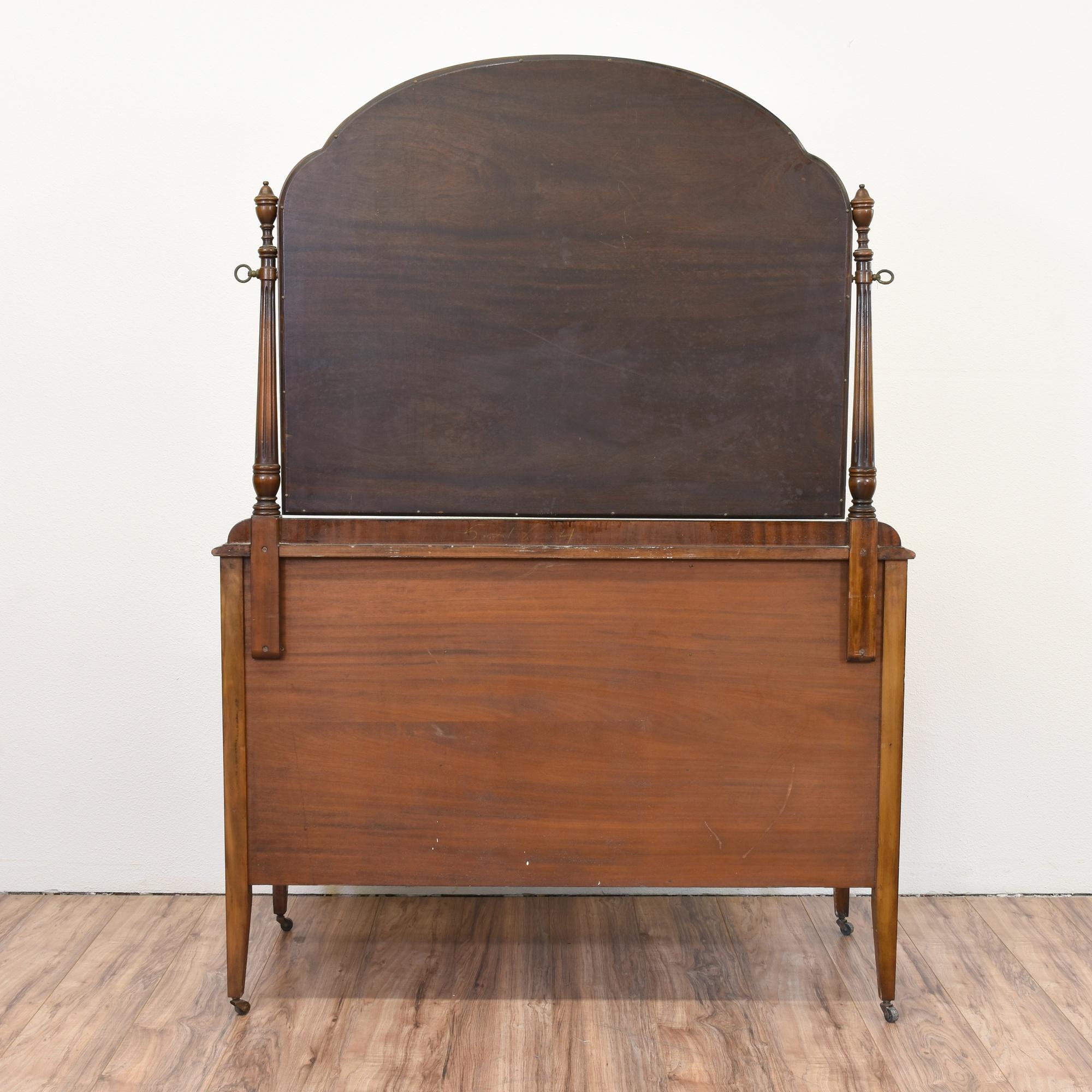"""Antique """"Berkey & Gay"""" Dresser & Mirror"""