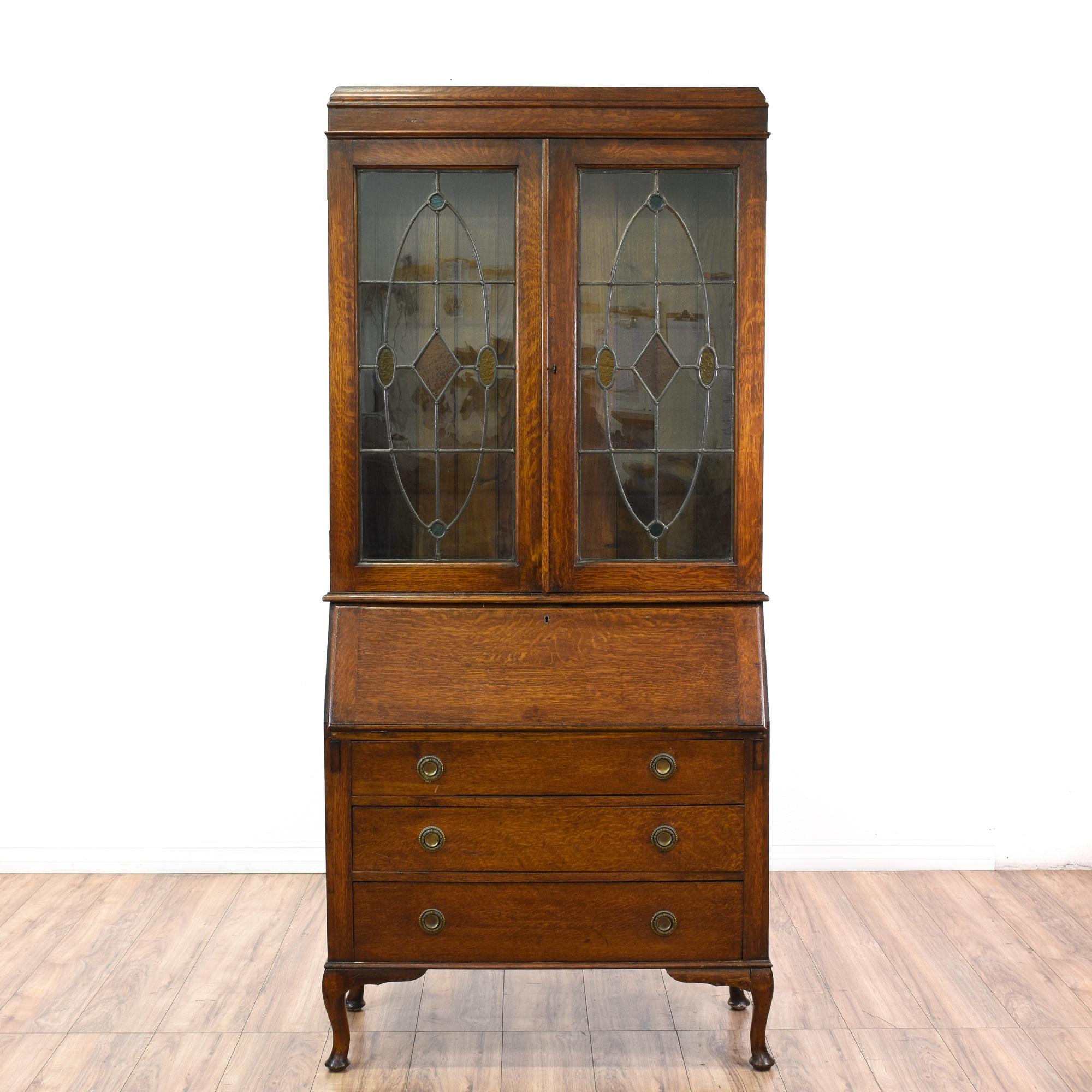 Antique Secretary Desk w/ Hutch Top | Loveseat Vintage ...