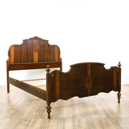 antique depression era full sized bed frame loveseat