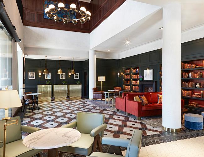 Reception at the Tamburlaine hotel, Cambridge