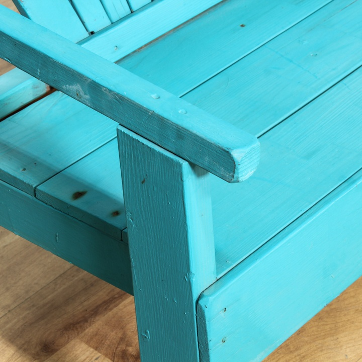 Coastal Patio Turquoise Wooden Table Amp Bench Loveseat