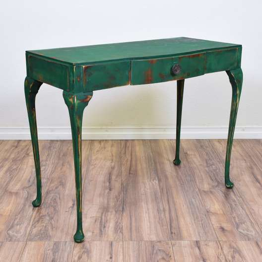 Blue Green Shabby Chic Desk Console Table