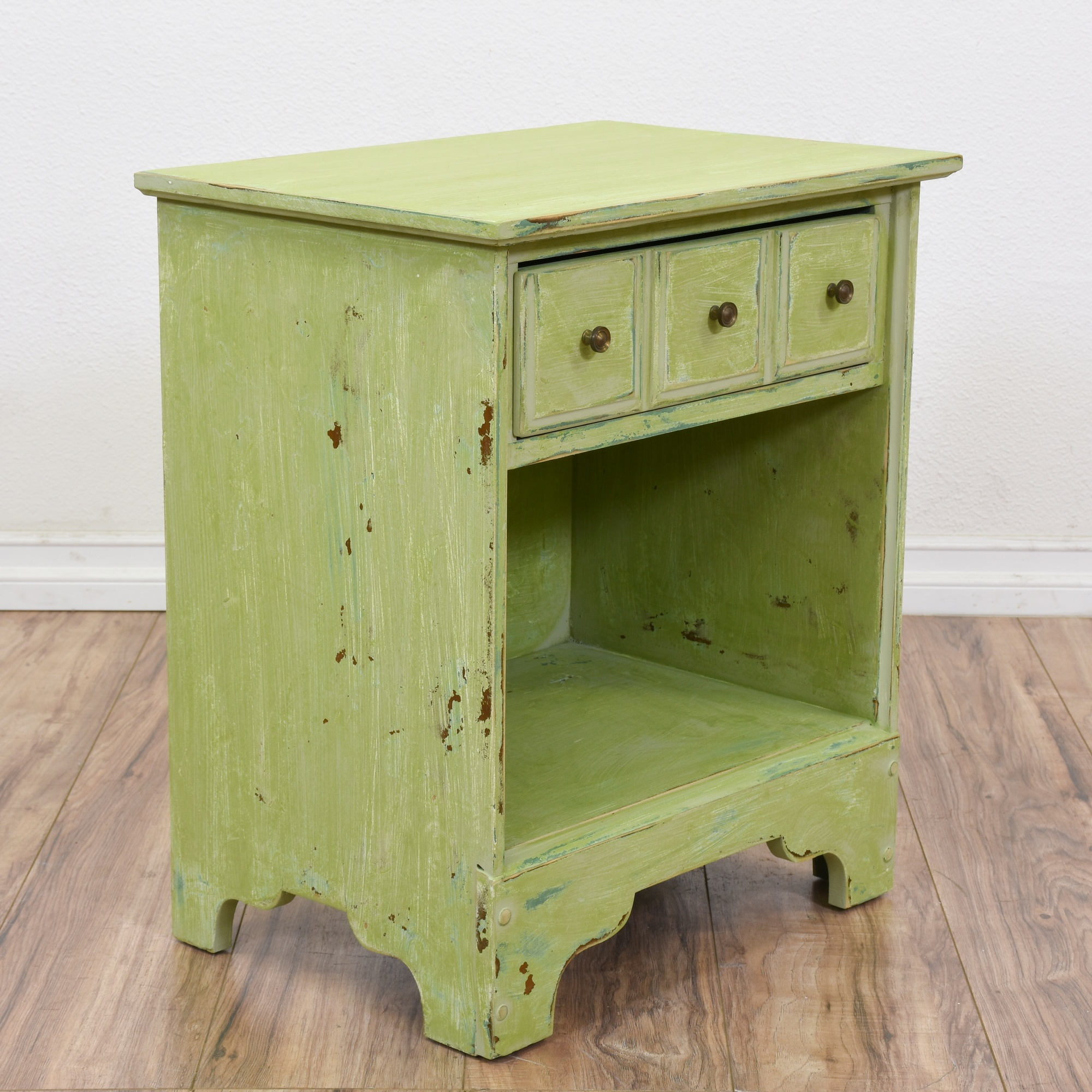 Light Green Shabby Chic Nightstand Cabinet Loveseat Online Auctions San Diego