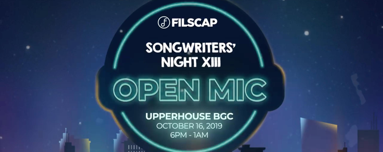 FILSCAP Songwriters' Night XIII | Upperhouse BGC