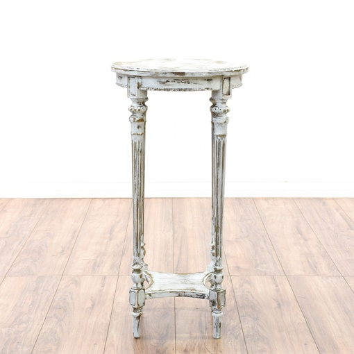 White Shabby Chic Side Table Plant Stand Loveseat
