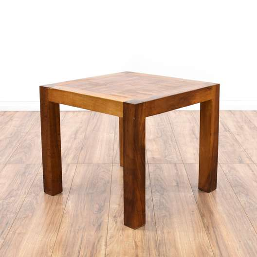 Simple Parquetry Top End Table