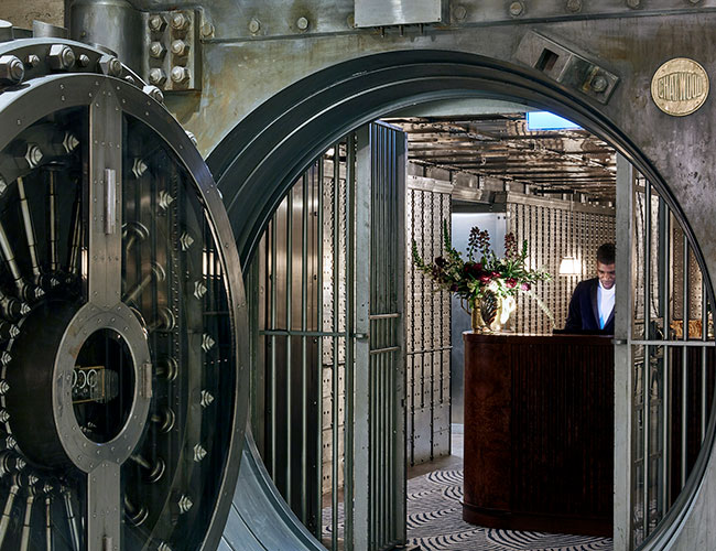 Entrance to the Vault bar at the Ned